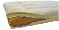 Futon Cover CRIB Organic Cotton 8 inch Cream Flannel