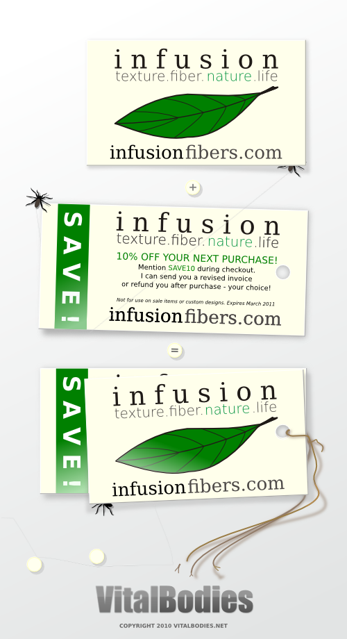 InfusionFibers.com Coupon Design