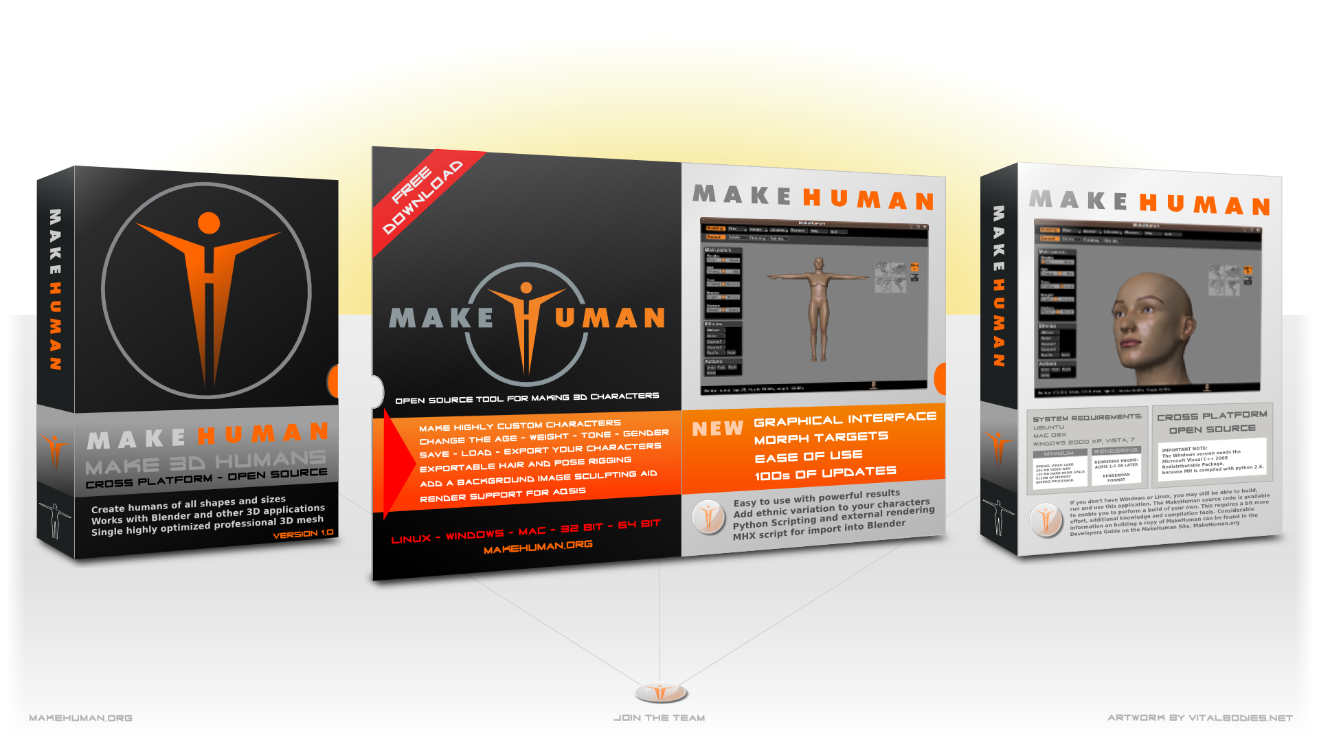 MakeHuman Software Box Full HD Graphic - InkscapeForum com